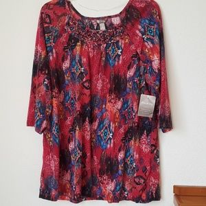 NWT white stag xl xg 16-18 womens multicolored top